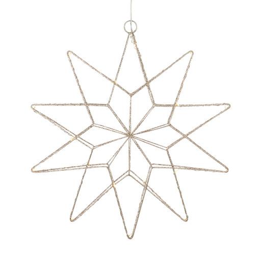 Markslöjd Gleam julestjerne m/lys – guld