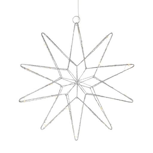 Markslöjd Gleam julestjerne m/lys – sølv