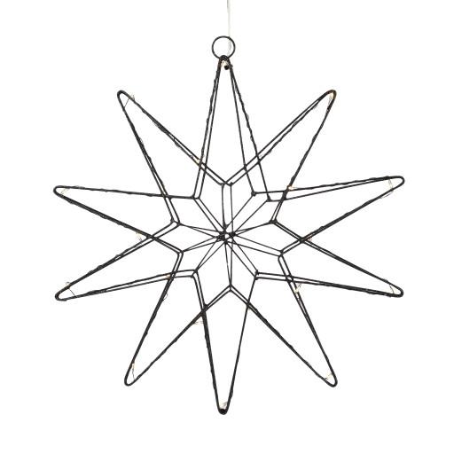 Markslöjd Gleam julestjerne m/lys – sort