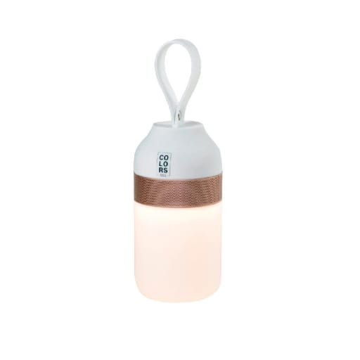 The Mini Bluetooth Højtaler med lys-Hvid/Kobber