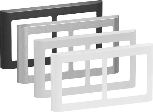 LK Fuga Design ramme 63 Soft 2x1 modul vandret