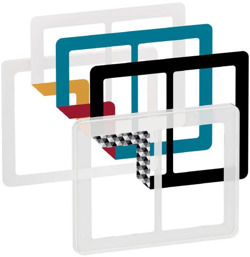 LK Fuga Choice design ramme 2x1,5 modul