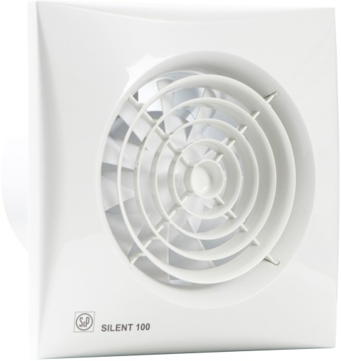 S&P silent 100CHZ ventilator Fugtstyret & Timer