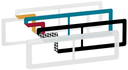 LK Fuga Choice design ramme 2x2 modul