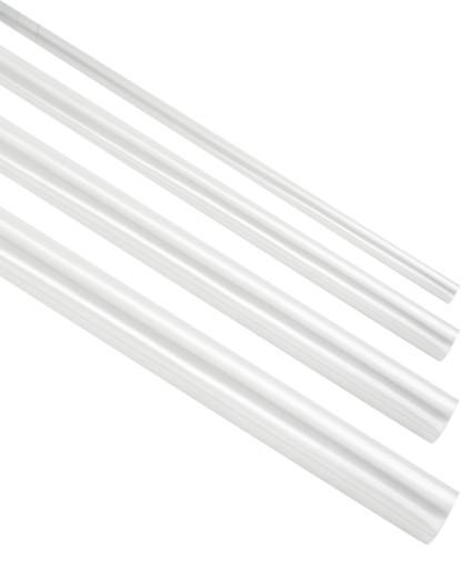 Transparent krympeflex med lim - hele længder
