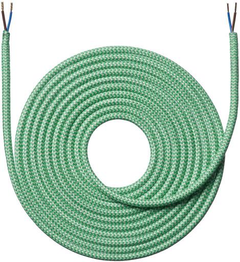 Grøn-hvid stribet stofledning