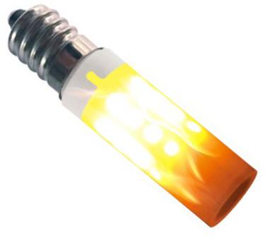 Colors LED flammepære E14 1W Ø1,5cm