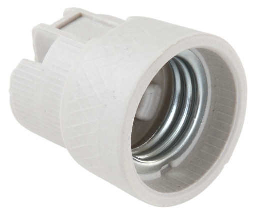 Porcelænsfatning med skruehuller i bunden