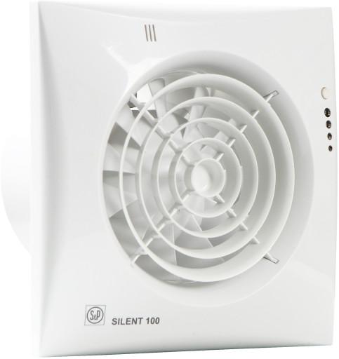 S&P silent 100CHZ-Visual ventilator - Med timer og justerbar fugtstyring