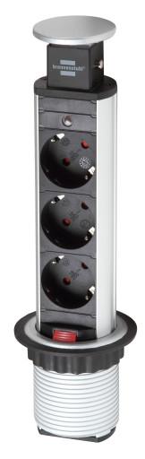 Brennenstuhl Pull-UP 3 stikdåse for indbygning