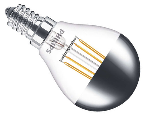 Philips topforspejlet LED kronepære E14 4W
