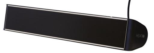 Heat1 infrarød terrassevarmer 2000W m/glasfront