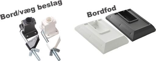 Bord/væg beslag for arkitektlampe