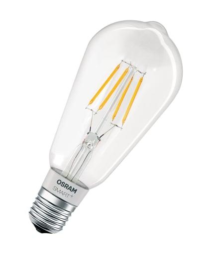 Ledvance Osram Smart+ Edison HomeKit LED filament lyskilde i klar - 5,5 watt - E27