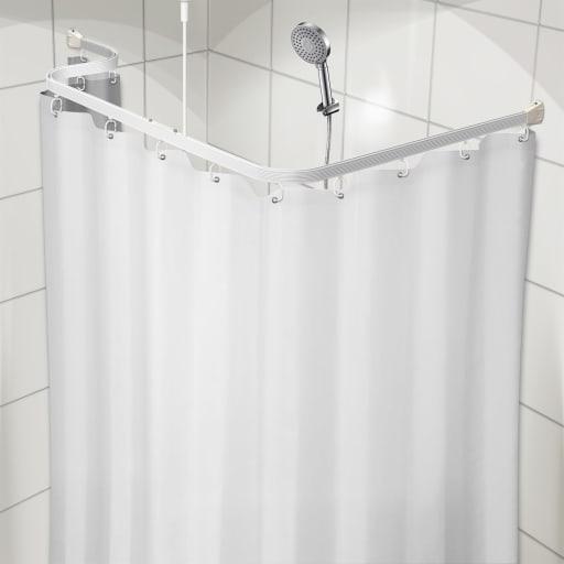 Smuk Køb Unicolor Hvidt Bruseforhæng 180 x 200 cm 777441180 KT-28