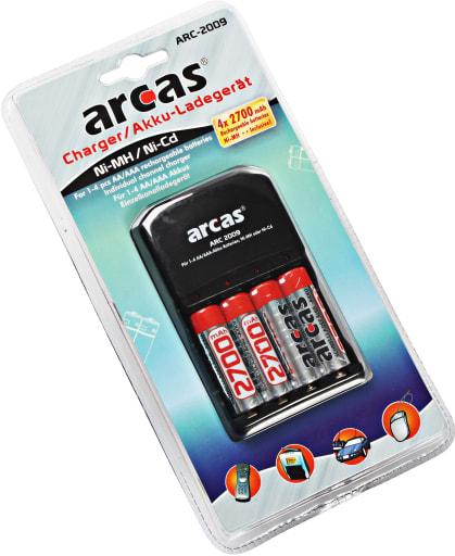 Batterioplader inkl. 4 stk AA batterier