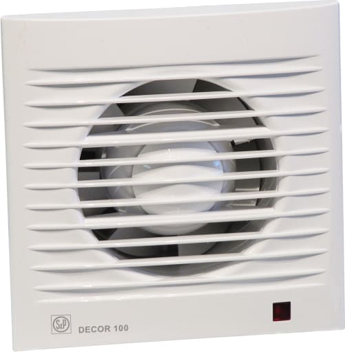 S&P badeværelsesventilator Decor Standard 100KZ