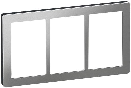 LK Fuga Pure design ramme 3x1,5 modul
