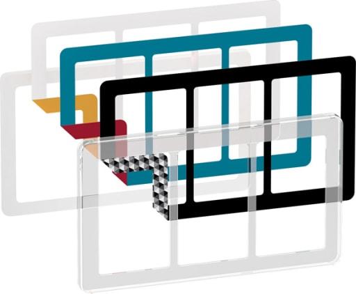 LK Fuga Choice design ramme 3x1,5 modul