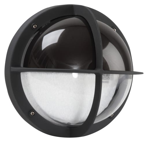 MIA Skotlampe med halvskærm IP44