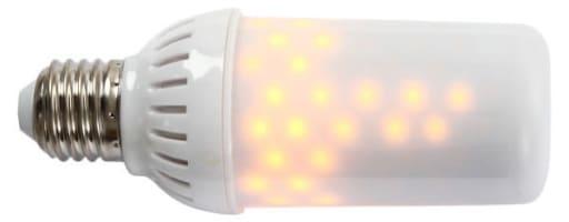 Firelamp LED flammepære E27 Hvid