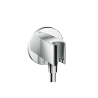 Hansgrohe FixFit Round slangvinkel med integrerad duschållare - Krom 76aa8489d6ee0