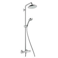 Hansgrohe Croma Showerpipe 220 S1jet komplett takduschsystem med termostat 682d20ca88ced