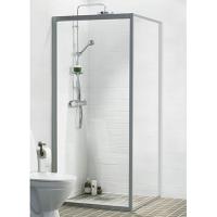 Ifö Solid Duschvägg SV 90x195cm Klart glas Aluminium profil e06292dff2d94
