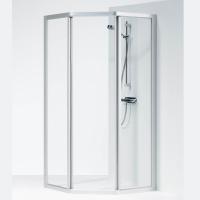 Ifö Solid Duschvägg SVP 90x90x195cm Klart glas Aluminium profil c631a75f442f9