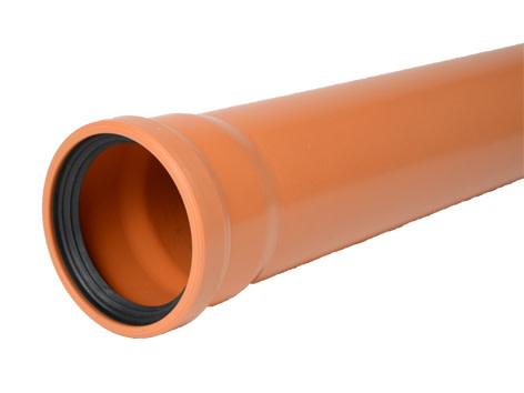 Køb Wavin 110 mm PVC kloakrør, SN4 - 3000 mm 191044300