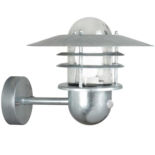 Nordlux Agger Udendørs væglampe med sensor, Galvaniseret