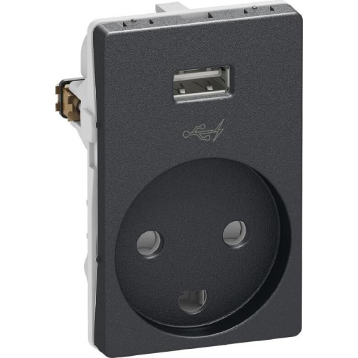 LK Fuga stikkontakt med USB