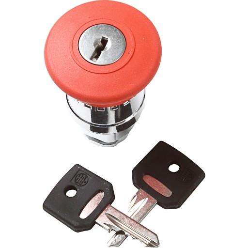 Nødstoptryk med nøgle