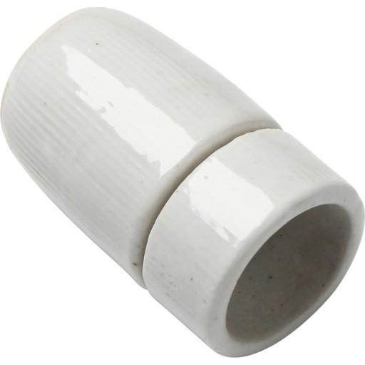 Glaseret porcelænsfatning E14