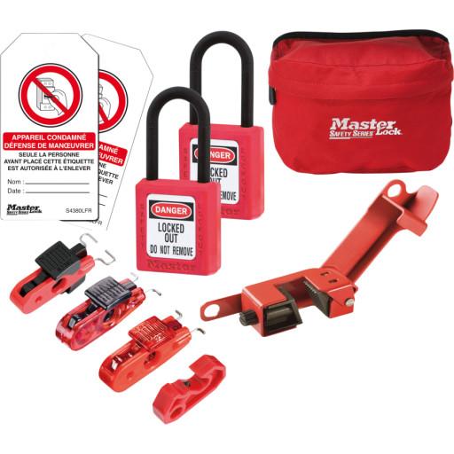 Sikkerhedskit til aflåsning af automatsikringer & sikkerhedsafbrydere mm.