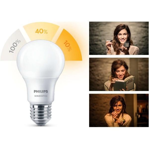 Philips SceneSwitch LED PÆRE E27 | LED Lyspære