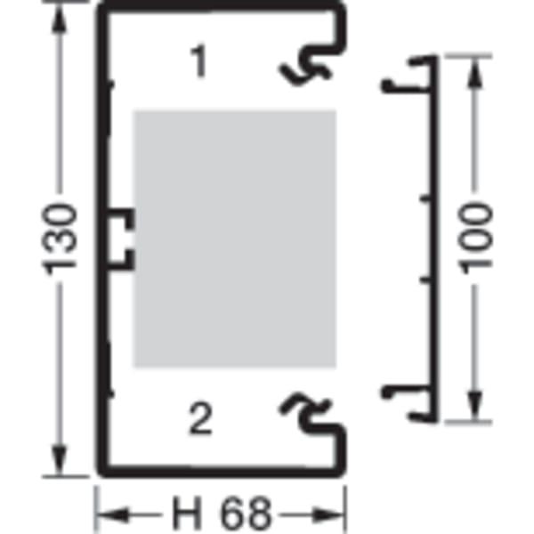 Kanalbund til Tehalit installationskanal 70/130
