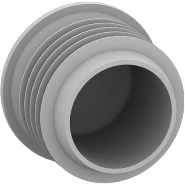 Vindtæt endestykke for Ø16-20mm stive plastrør
