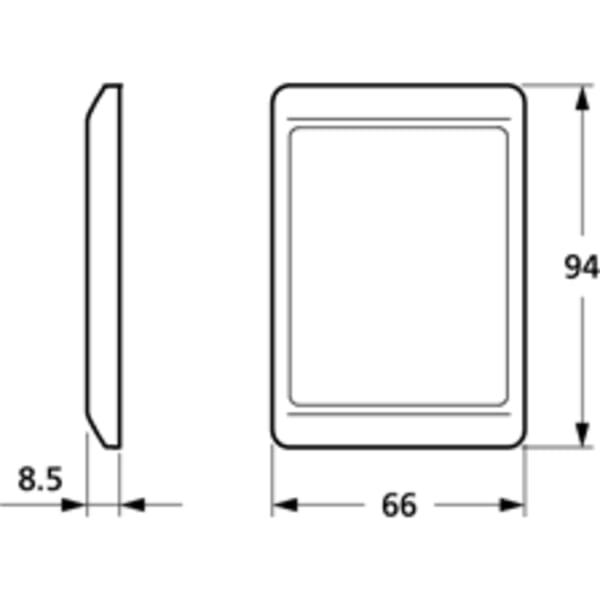 LK OPUS 66 ramme kombi 1½ modul lodret