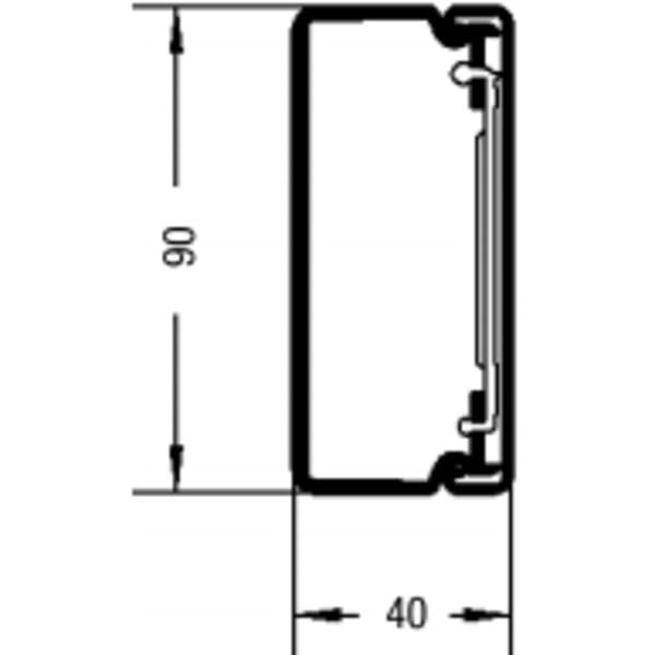 Rehau kabelkanal LE - 40/90mm