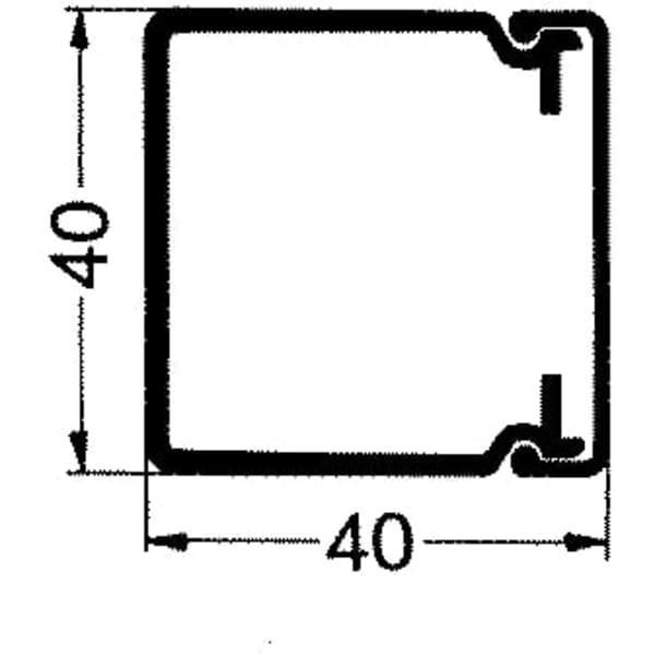 Rehau kabelkanal LE - 40/40mm