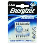 BATTERI ENERGIZER AAA/L92 4STK