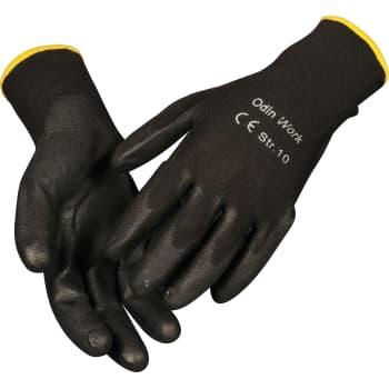 Mega ODIN Work black PU-handske, str. 9 ZD75