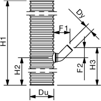Wavin 315 x 110 mm PVC-sandfangsbrønd med vandlås, 70 l