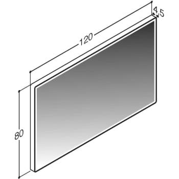 Fin Dansani Calidris Spejl 80x120 cm med LED lys hvid ramme Calidris GF-64