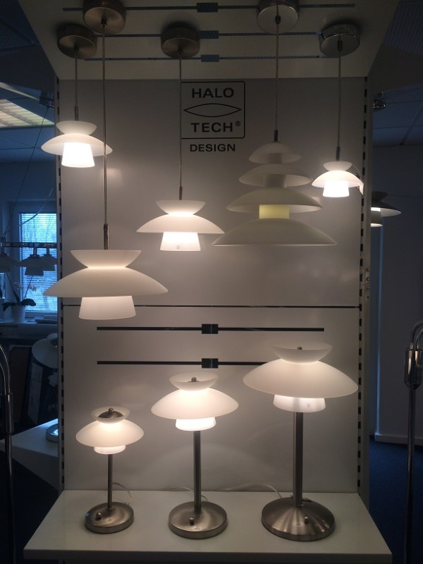 Halo Tech Dallas Glass Bordlampe m. lysdemper