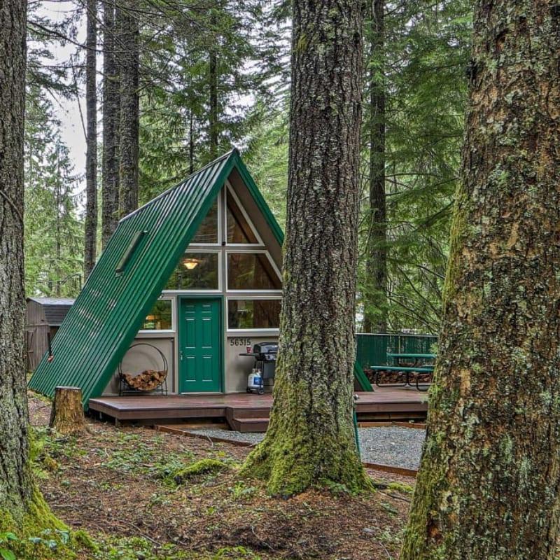 A-Frame vacation rental cabin in Ashford, Washington