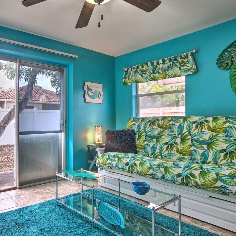 Vacation rental living room in Fort Lauderdale, Florida