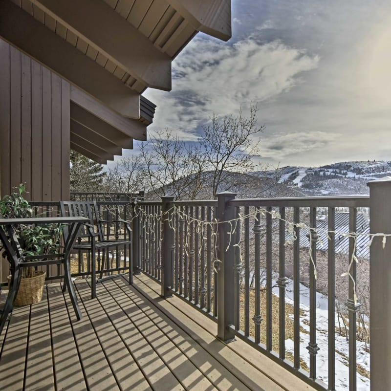 Park City, Utah vacation rental home with mountain views from the balcony