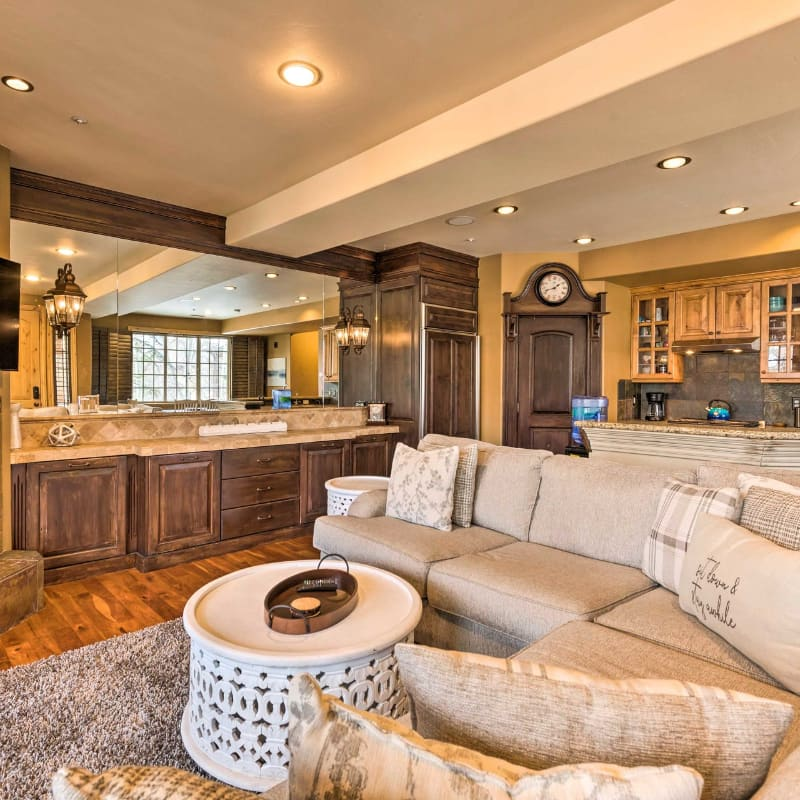 Vacation rental home front door and yard in Park City, Utah